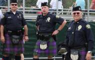 Even the police dress for the occasion in their own tartan. Always looking great. Picture thanks to New Hampshire Highland Games