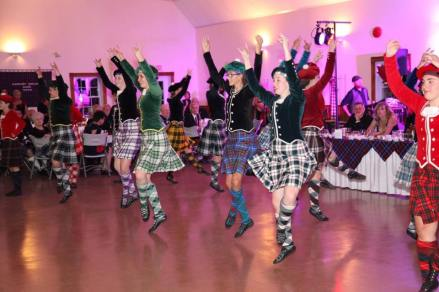 Some of the entertainment at the Tartan Ball!