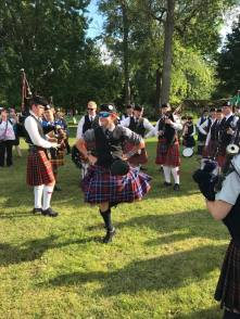 In Glengarry, all our pipers Highland Dance! Just kidding...but Alan is a champion Highland dancer as well! Good form!