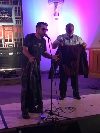 Thanks to Ashley MacIsaac, we auctioned off the last hoody that he had purchased and wore at the beginning of the show!