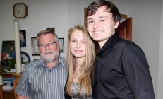 Myself with Rachel and Noel Campbell who helped out on our celtic night for the Maxville Music Fest
