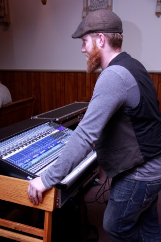 Tyler Jaimeson helping us out with the sound!