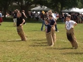 Childrens games at the Southest Florida Scottish Festival and Highland Games, Sunrise Florida