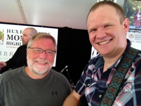 Myself and Graham Lindsey at the Montreal Highland Games in Montreal! Thanks for the ride!