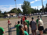 Lots of action in the ball diamonds!