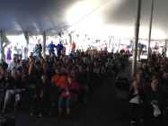 Great morning crowd in the main tent.