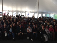 Great morning crowd in the main tent!