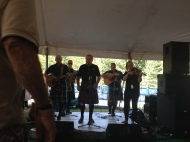 In the pipers tent. A little cramped, but lots of fun! Picture thanks to my iPhone!