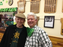 Pat Maher and Dai Bassett, MC for the day at Dacre