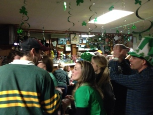 Some folks at the Douglas Tavern getting the party started