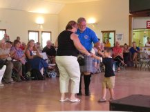 Dancing with my wee grandson!