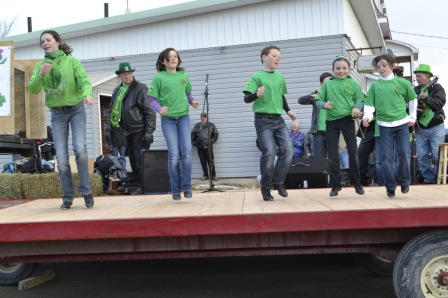 Stepping it out at the St Patrick's Day Parade in Douglas!