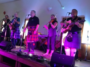 Playing with the Brigadoons in the Metcalfe Centre on Saturday of the Glengarry Highland Games