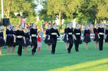 The MacCulloch dancers performing in the Friday night Tattoo.