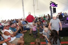 Great crowd in the performance tent!