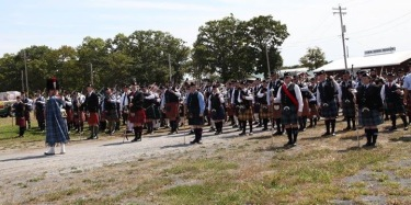 Massed bands getting ready to march!