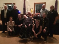 A picture of some of the past and present group. Rob Taylor, Denis Carr, Shelley Downing, Danny Leroux, Brian MacDonell, Rick Linke, Reg Portieous, Ashley MacLeod, Bob Burnie, Neil MacDonell and myself Paddy Kelly